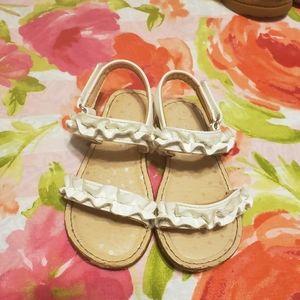 White toddler sandals